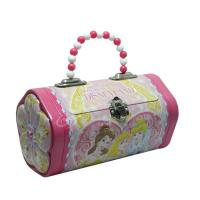 Buy cheap With lock and handle rectangle metal packing Christmas gift tin box from wholesalers