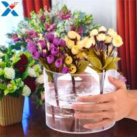 Wholesale Waterproof Acrylic Flower Box Makeup Organizer Holder Round Shape ROHS Approval from china suppliers