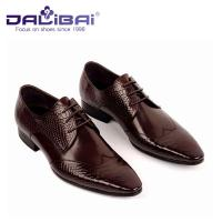 Wholesale Lace Up Man Shoes , Genuine Leather Pointed Toe Man Dress Shoes With Italy Design from china suppliers