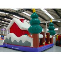 Wholesale Merry Christmas New Inflatable Santa Claus Bouncer House For Kids Playground from china suppliers