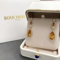 Wholesale 18K Yellow Gold Boucheron Serpent Boheme Earrings With Topaz Crystals And Diamonds from china suppliers