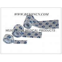 Wholesale Printed Cohesive Elastic Bandage Paw Prints Vet Wrap  Fix Dressing Cold Hot Packs from china suppliers