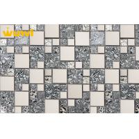 Wholesale Electroplate China Backsplash Glass Mosaic Wall Tile With Classical Flower from china suppliers