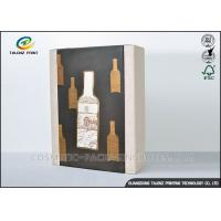 Wholesale High End Paper Wine Box Gold Hot Stamping Finishing Hardcover Hand Box from china suppliers