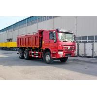 Wholesale Large power HOWO 6X4 Euro III Red Heavy Duty Dump Truck for unloading from china suppliers