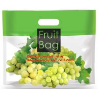 Wholesale high transparent plastic bag for grape, plastic material and zipper to sealing transparent from china suppliers