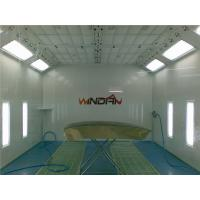 China Water Born Painting Side Draft Paint Booth With PU Wall Panel on sale