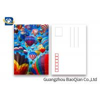 Wholesale Coloful Hot Air Balloon 3D Lenticular Postcards PET / PP Similar To Holograms from china suppliers