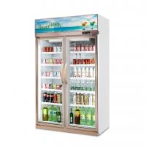 Buy cheap Beverage Cooler Glass Door Upright Showcase Freezer / Supermarket Refrigerator from wholesalers