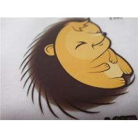 Cartoon Pattern Silk  Screen Heat Transfer Wash Labels For Garment Or Bags for sale