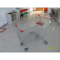Buy cheap 240 Litres Supermarket Shopping Carts Wheeled Zinc Plated Surface Treatment from wholesalers