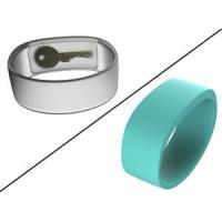 The most popular transparent color silicone Pocketband key wristband with factory price for sale