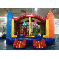 Wholesale Commercial Plato PVC Tarpaulin Inflatable Bouncer House With Small Slide from china suppliers