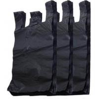 China Black Color Biodegradable T Shirt Bags , T Shirt Plastic Shopping Bags on sale
