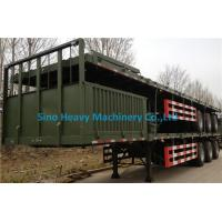 Wholesale Sino Truk Double Containers Semi Trailer Trucks , Red Diesel Truck Trailer from china suppliers