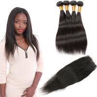 Wholesale Unprocessed Indian Human Hair Bundles / Straight Indian Remy Hair Weave from china suppliers