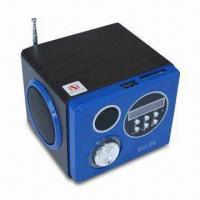 Quality Portable Wooden LED USB Mini Speaker, with Remote Control, FM Radio and Screen for sale