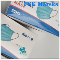 Wholesale CE FDA 3 Ply Surgical Face Mask Disposable Mouth Mask Adjustable Nose Bridge from china suppliers