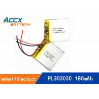 Wholesale 303030pl 180mAh 3.7V li-ion polymer battery rechargeable cell with PCB protection from china suppliers