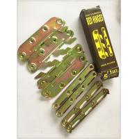 Yellow Zinc Color Screw Hook Hinge , 6 Inch Strap Hinges Customized Size for sale