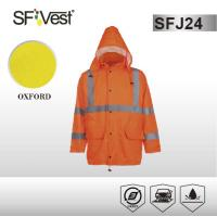 Buy cheap Customized Color high visibility jackets waterproof safety parka with detachable hood ANSI ISEA 107-2010 from wholesalers