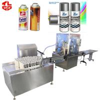 Water Removable Spray Paint Filling Machine Automatic 2000-3600cans/hour for sale