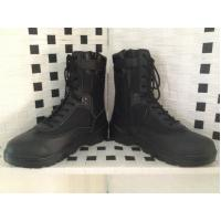 China Hot sale black leather boot/combat boot on sale