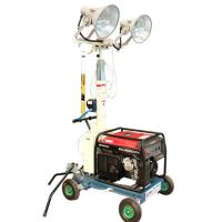 Buy cheap Trailer Type Hand Elevate Telescopic Mast Light Tower Construction Light Towers from wholesalers