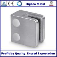 Quality Stainless Steel Square Glass Clamp with Flat Back 45x45mm Fit 6-10mm Glass for for sale