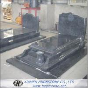 Solemn Grey Granite Tombstone, Grave Grey Granite Monuments for sale