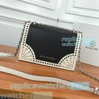 China Newest Knockoff Michael Kors Black Genuine Leather Ladies Chain Shoulder Bag on sale