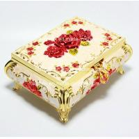 Wholesale Elegant Rose Golden trinket box for mothers day gifts with High-grade Velvet inner,Environmental electroplating from china suppliers
