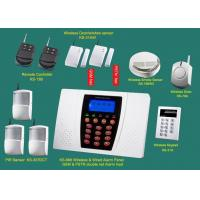 Wholesale Home GSM quad band Alarm Systems with siren, smoke detector, door sensor, infrared sensor, keypad retail & wholesale security from china suppliers