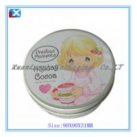 Quality Small round tin box for sale