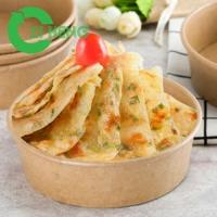 Wholesale Food grade disposable freezer safe kraft paper salad bowl with lid from china suppliers