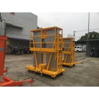 China Portable Aerial Work Platform Vertical Lift 12m Platform Height Double Mast for sale