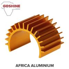 Industrial U Aluminum Heat Sink enclosure half round heat sink extruded profiles for sale