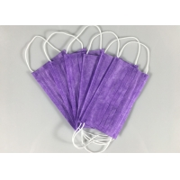 Wholesale Nonwoven Purple Civil Triple Layer Earloop Face Mask from china suppliers