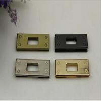 Wholesale Quality leather craft handbag metal square twist lock accessories with light gold from china suppliers