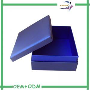 China Handmade Dark Blue Custom Jewelry Gift Boxes Personalized Popular on sale