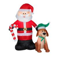Buy cheap Factory Customized Shop or Family Christmas Roof Decoration Inflatable Santa Claus on Fire from wholesalers