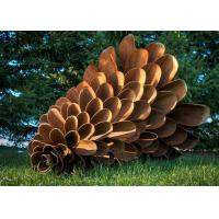 Buy cheap Corten Steel Rusty Pine Cone Sculpture , Modern Metal Landscape Sculpture from wholesalers
