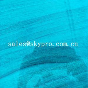 China High Density PVC Plastic Sheet Transparent Blue Soft Super Thin Flexible on sale