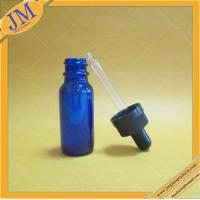 China 15ml blue boston round bottle with childproof cap on sale