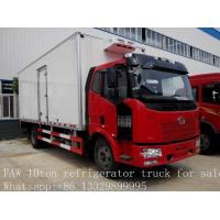 China 10 tons FAW Jiefang 4x2 new mobile cold room trucks for sale, FAW brand 4*2 LHD 10tons refrigerated van truck for sale for sale
