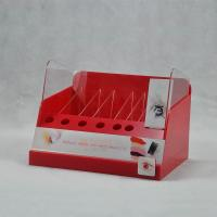 Wholesale Red Plastic Acrylic Nail Polish Display Stand With More Compartments from china suppliers