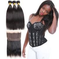 Wholesale Straight Genuine 360 Lace Frontal Closure With Bundles Customized Length from china suppliers