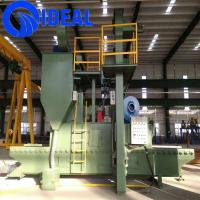 Connecting plate small type shot blasting machine for surface improving