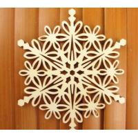 Wholesale Wooden Snowflake Christmas Ornaments from china suppliers