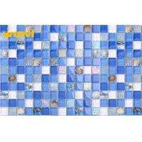 Wholesale TV Wall Ocean Bright Color Shell Mosaic Tile With Mix White Mosaic Chips from china suppliers